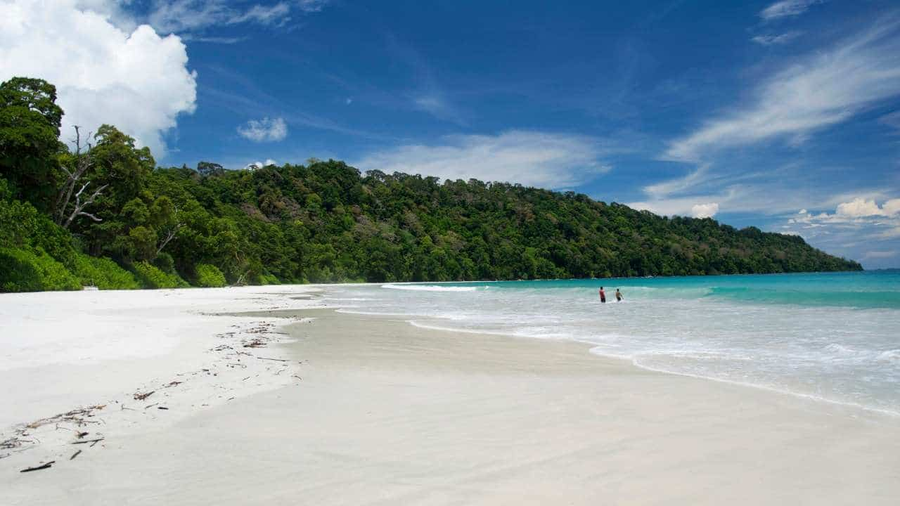 sandy white Andaman beach, the perfect island getaway