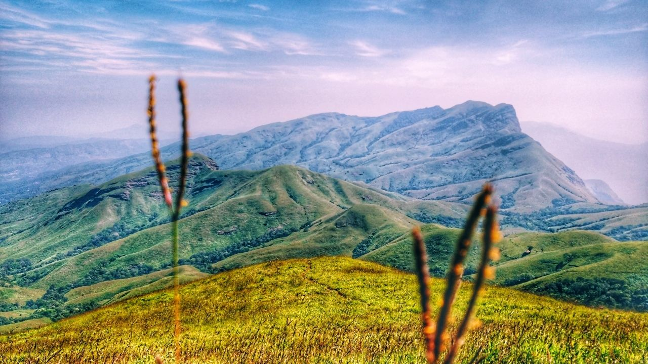 a view of the mountains of Kudremukh