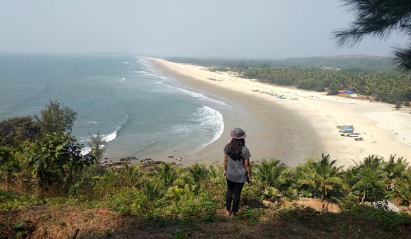 a view of the sea from the hills in Kumta