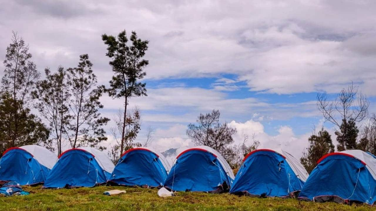 tents on the hills of Kodaikanal